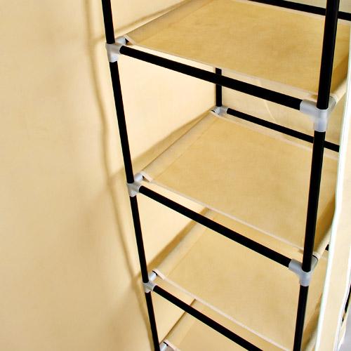 garderobenschrank kleiderschrank stoff campingschrank 177cm neu ebay. Black Bedroom Furniture Sets. Home Design Ideas