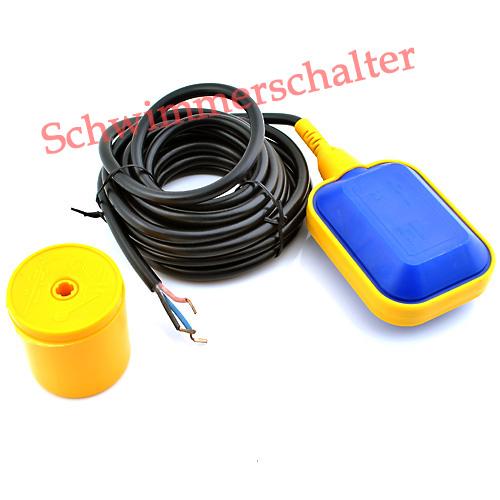 schwimmerschalter pumpensteuerung schalter mit 5m kabel f pumpe ebay. Black Bedroom Furniture Sets. Home Design Ideas