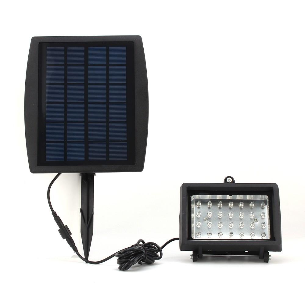 solarlampe outdoor solarlicht led licht 8w aufladbar schwarz. Black Bedroom Furniture Sets. Home Design Ideas