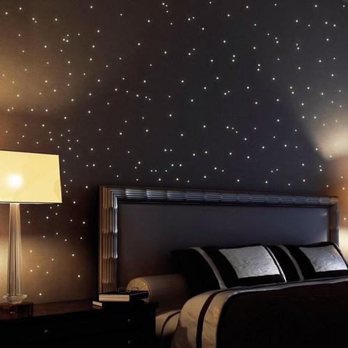 wandtattoo wandkleber leuchtende punkte leuchtpunkte f r. Black Bedroom Furniture Sets. Home Design Ideas