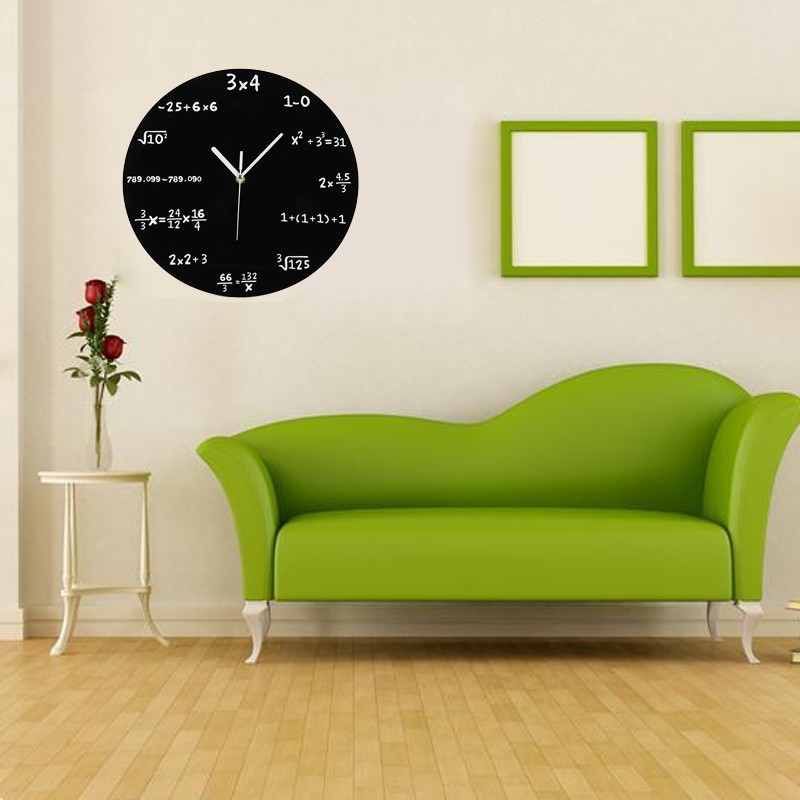 moderne wanduhr design wandtattoo dekoration runde f r. Black Bedroom Furniture Sets. Home Design Ideas