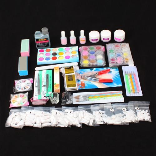 nail art acrylic set nagelkunst acryl puder nail art werkzeug set nagel zubeh r. Black Bedroom Furniture Sets. Home Design Ideas