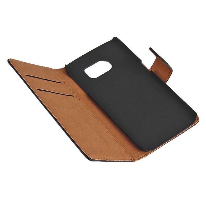 samsung galaxy s6 edge handyh lle etui cover pu leder schwarz. Black Bedroom Furniture Sets. Home Design Ideas