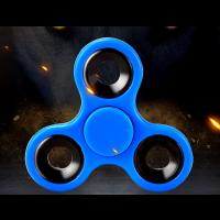 Finger Hand Spinner blau Fidget Fokus Spielzeug Geschenk Finger Training