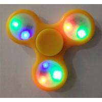 Hander Spinner Finger Pocket LED Licht 9LED Fidget Spinner gelb