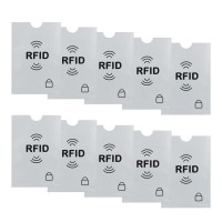 10x RFID Blocking NFC Schutzhüllen für Kreditkarte, Personalausweis, EC-Karte, Reisepass, Bankkarte, Ausweis - 100% Schutz