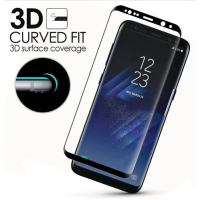 Galaxy S8 Schutzfolie,HD Clear Screen protecter Curved Panzerglas Schwarz 9H Tempered Glass f¨¹r Samsung Galaxy S8
