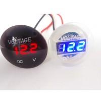 12V-24V LED Voltmeter Digitalanzeige  DC Voltmeter Spannungsanzeige f. Auto Motorrad KFZ