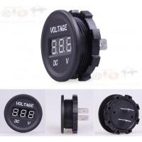 Auto Motorrad Spannungsanzeige Voltmeter Panel Meter Voltage Gauge Digitalanzeige 12-24V