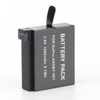 AKKU Go Pro HD Hero Batterie (geeignet für  Go Pro HD Hero 4 AHDBT 401) 1600mAh schwarz