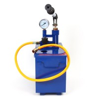 Prüfpumpe Testpumpe mit 10L Behälter blau