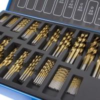 230pcs Spiralbohrer Bohrer Set, HSS Stahl 1/1,5/2/2,5/3,mm ,3-10mmSpiralbohrer Bohrersets Handspiralbohrer Werkzeuge,mit  Metallbox