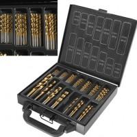 99pcs Spiralbohrer Set 1,5-10mm Titan-beschichtet HSS Bohrer-Bitset, Spiralbohrer Bohrersets Werkzeuge, gold
