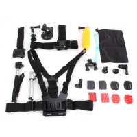 Zubehör für GoPro, 28teilig Gopro Set Kamerahalterungen für Gopro Hero 2,3, 3+,4 /SJ 4000 5000 Kamera, hochwertiger Kunststoff, Metall, Nylon.