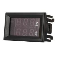 "Doppelanzeige Digital Multimeter 0.28 "" 4.5-30V/0-50.0 A Voltmeter-Amperemeter Spannungsmesser Strom Monitor"