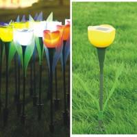 4 Stk Solar Gartenlampe Blume LED 2V Licht Solarleuchten Light Yard Garten Terrasse Beleuchtung Tulpe
