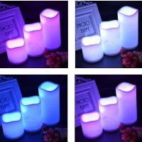 LED Kerzen 3er Pack Flammenlose 12 Farbe mit Fernbedienung für Party Bar Hochzeit Weihnachten