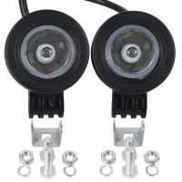 SET 2 Stück LED Arbeitsscheinwerfer 10W 900LM 10-80V Lampe Wasserdicht IP67 Auto Scheinwerfer schwarz