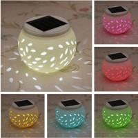 LED-Dekoleuchten Bunt Solarlicht Solarlampe Keramikleuchte Keramik