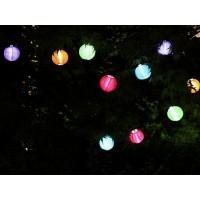 Solar Lichterkette LED Lampionkette 30 LEDs Dekobeleuchtung Bunt