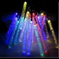 20 LED Solar Outdoor Lichterketten Lampe RGB  mit Eiszapfen Design