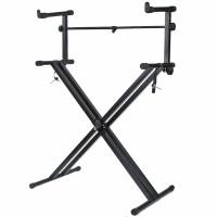 Keyboard Stand Piano stabil Racks Stativ mit 2 Ebenen
