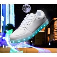 LED Schuhe / Sneaker Leuchtende Gr.40 weiß