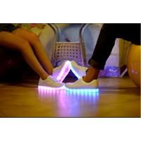 LED Schuhe / Sneaker Leuchtende Gr.41 weiß