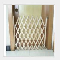 Tür-Treppenschutzgitter für Hunde Katze Scherengitter Holz 1.1*0.83m