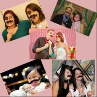 76 PCS Verkleidung Photo Booth Props für Party / Hochzeit
