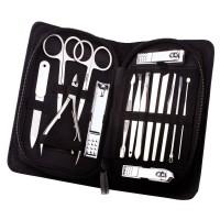Pediküreset, Maniküre Set, Nagelpflege Set 15-teiliges Maniküre-Pediküre Reise Set, Glanzvernickelter und polierter Stahl