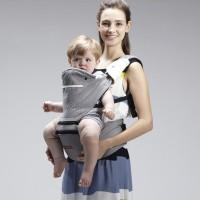 Babytrage Tragetuchstoff für Kinder bis 16kg oder 36Monate Grau
