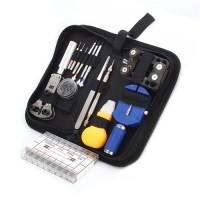 25teilig Uhrenwerkzeug Set, Uhrenmacherwerkzeug Armbandkürzer Deckelöffner aus Metall, mit  Werkzeugtasche