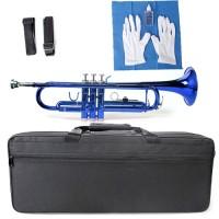 Bb Trompete in blau mit Koffer+Handschuhe