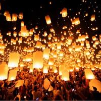 10 Stk. Weiss Himmelslaternen Glückslaterne Laterne Skyballon