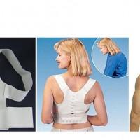 Rückenstütze weiss verstellbar Haltungskorrektur Rückenbandage