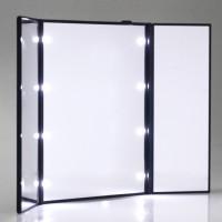 Make-up-Spiegel mit 8 LEDs Schminkspiegel Faltbar Beleuchtet 3 Seite Standspiegel mit Licht
