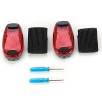 2x LED Sicherheitsclip Set Jogger Warnleuchte Fahrrad Sportlicht rot