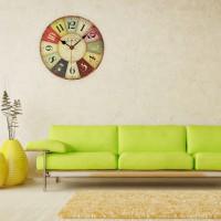 Wanduhr Uhr mit arabischen Ziffern Holz Taschenuhr Küchenuhr Antiquites Antik Uhr Holzuhr Quarzuhr 30cm