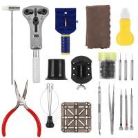 20Pcs Uhrenwerkzeug Set Watch Tool Uhrmacher Werkzeugsatz Uhr Werkzeug Tasche Reparatur Set + Koffer