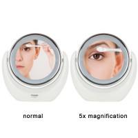 LED Kosmetikspiegel 5 fache Vergrößerung   Beleuchtung Doppelseitiger Schminkspiegel Standspiegel Make up