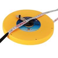 Rollmaßband 50M Banmaß Messband  für Baustelle , Vermessungen von Räumen und Flächen etc. Gelb