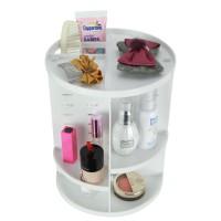 Make up Kosmetikorganizer, 360 Grad Drehbarer Make up Organizer, Einstellbarer  Multifunktionale Aufbewahrungsbox, 7 Verstellbare Ebenen, Weiß