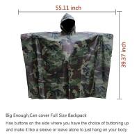 Regenjacken Regenponcho Regenmantel für die Jagd Camping Freizeit Regenmantel Camouflage Rain Poncho