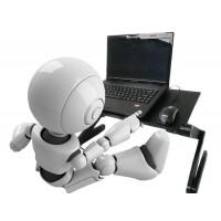 Laptoptisch Notebook Laptop Ständer Tisch Ausklappbare,  verstellbar bis 48cm Frühstück Tablett, Aluminium Schwarz