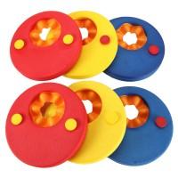 Schwimmscheiben Kids Schwimmreifen Schwimmhilfe Armbinden Schwimmer Discs Schaum Schwimmen Armbands (6 Scheiben)