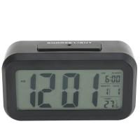 LED Digital-Wecker mit extra großem Display, Snooze, Datumsanzeige, Temperatur 13.5*7.5*4.5cm,  Kunststoff  schwarz