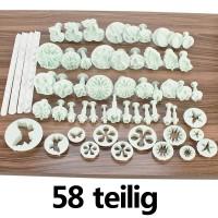 58er Fondant Modellierwerkzeug Set Kuchen Form Ausstecher Set