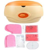 Paraffin Bad Set Kosmetik Paraffinbad  200W Wachs Zubehör Starter-Set Orange Wachsbad inkl 2x350g