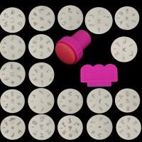 Nailart Stempel Plate Nageldesign Schablonen Plates Stamping Set